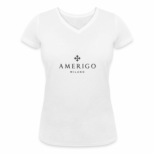 Amerigo Milano - T-shirt ecologica da donna con scollo a V di Stanley & Stella