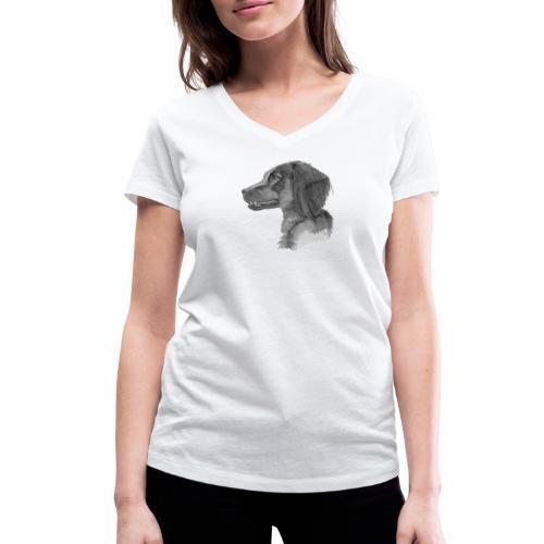 fieldTrialSpaniel - Økologisk Stanley & Stella T-shirt med V-udskæring til damer