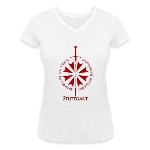 T shirt front S - Frauen Bio-T-Shirt mit V-Ausschnitt von Stanley & Stella