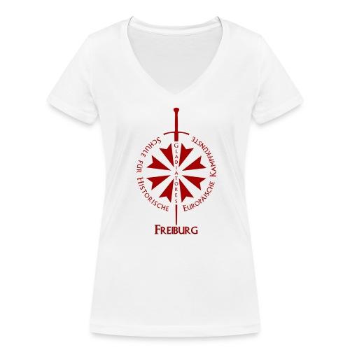 T shirt front Fr - Frauen Bio-T-Shirt mit V-Ausschnitt von Stanley & Stella