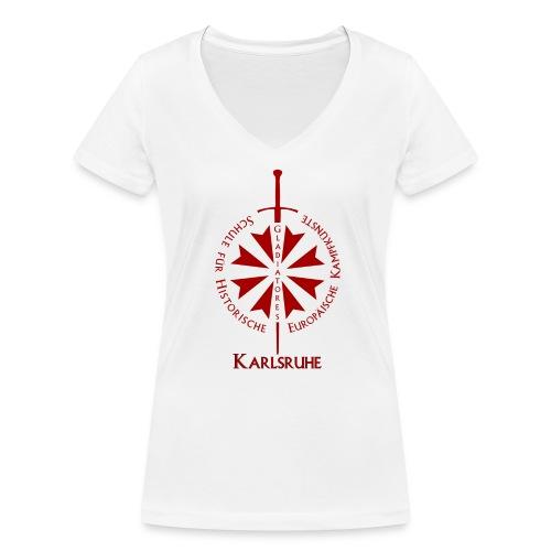 T shirt front KA - Frauen Bio-T-Shirt mit V-Ausschnitt von Stanley & Stella