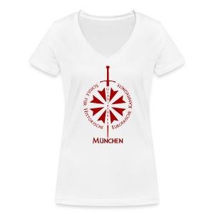 T shirt front M - Frauen Bio-T-Shirt mit V-Ausschnitt von Stanley & Stella