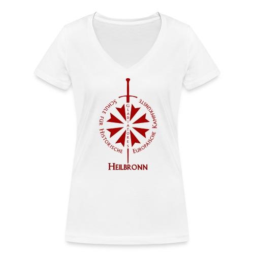 T shirt front Hn - Frauen Bio-T-Shirt mit V-Ausschnitt von Stanley & Stella