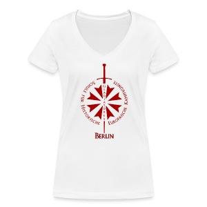 T shirt front B - Frauen Bio-T-Shirt mit V-Ausschnitt von Stanley & Stella