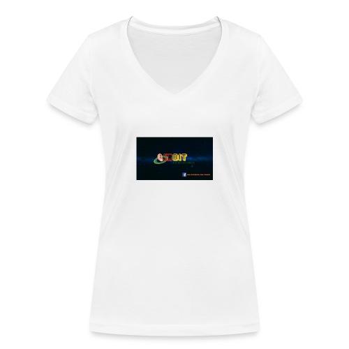 OhrBit Logo - Frauen Bio-T-Shirt mit V-Ausschnitt von Stanley & Stella