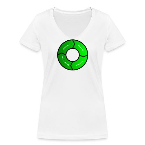 PDCA 1 - Frauen Bio-T-Shirt mit V-Ausschnitt von Stanley & Stella