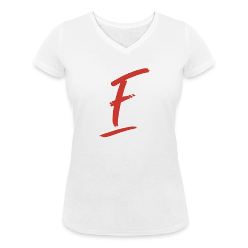 Radio Fugue F Rouge - T-shirt bio col V Stanley & Stella Femme