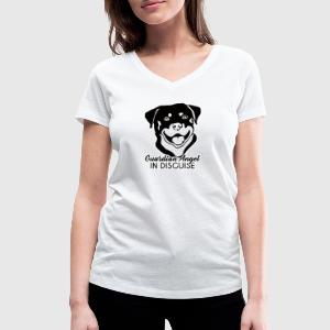 Chien / Rottweiler Ange Gardien In Disguise - T-shirt col V Femme