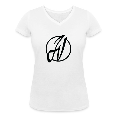 JV Guitars - logo noir - T-shirt bio col V Stanley & Stella Femme