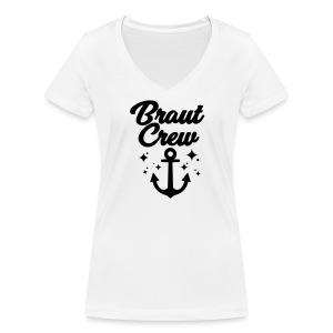 Braut Crew - JGA T-Shirt - JGA Shirt - Braut - Frauen Bio-T-Shirt mit V-Ausschnitt von Stanley & Stella
