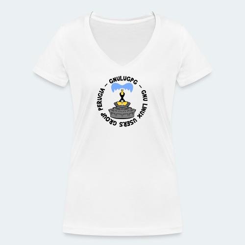 LUG Perugia - T-shirt ecologica da donna con scollo a V di Stanley & Stella