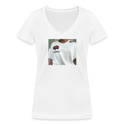 Feminist T-Shirt - Frauen Bio-T-Shirt mit V-Ausschnitt von Stanley & Stella