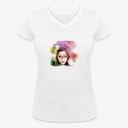 Girl colore - T-shirt bio col V Stanley & Stella Femme