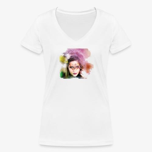 Girl colore - T-shirt bio col V Stanley & Stella Femme