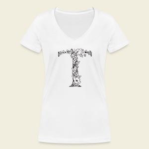 Buchstabe T - Frauen Bio-T-Shirt mit V-Ausschnitt von Stanley & Stella