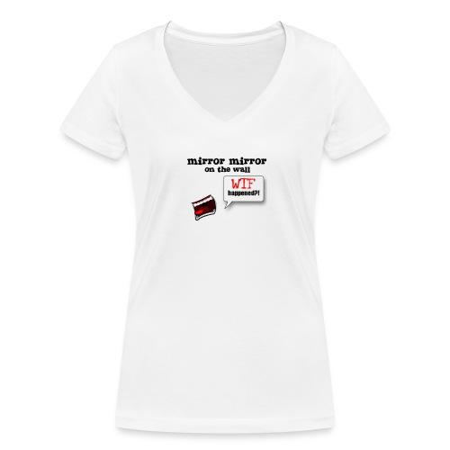 Mirror WTF - Økologisk T-skjorte med V-hals for kvinner fra Stanley & Stella