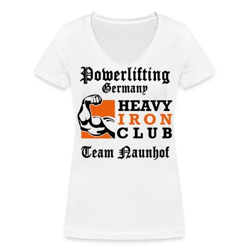 Heavy Iron Club Team-Logo für hellen Untergrund - Frauen Bio-T-Shirt mit V-Ausschnitt von Stanley & Stella
