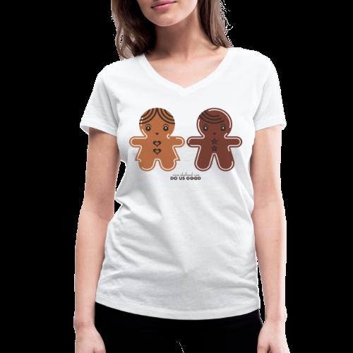 GINGERBREADS - Stanley & Stellan naisten v-aukkoinen luomu-T-paita