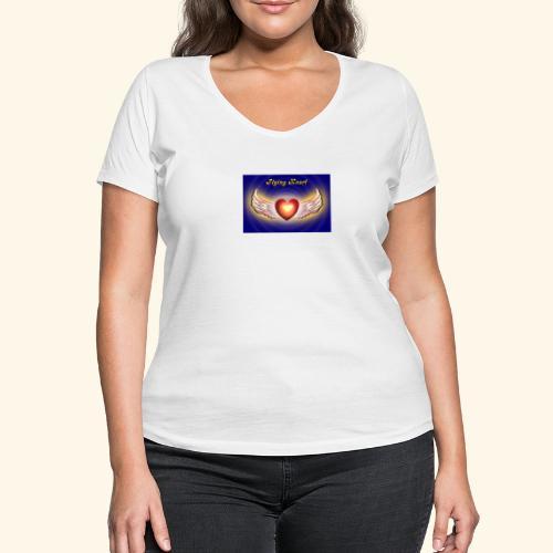 Flying Heart - Frauen Bio-T-Shirt mit V-Ausschnitt von Stanley & Stella