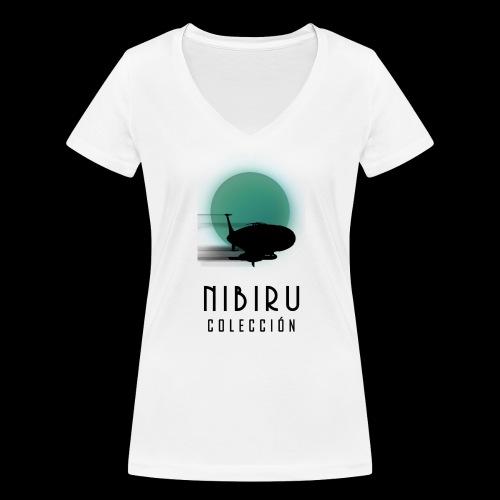 NibiruLogo - Camiseta ecológica mujer con cuello de pico de Stanley & Stella