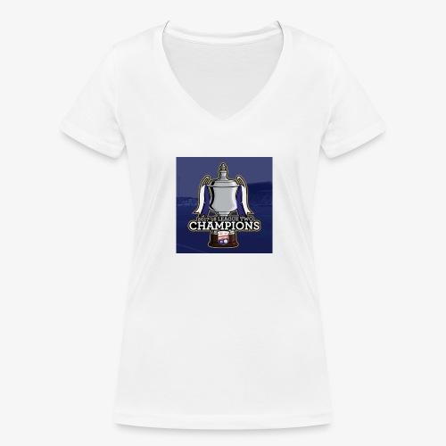 MFC Champions 2017/18 - Women's Organic V-Neck T-Shirt by Stanley & Stella