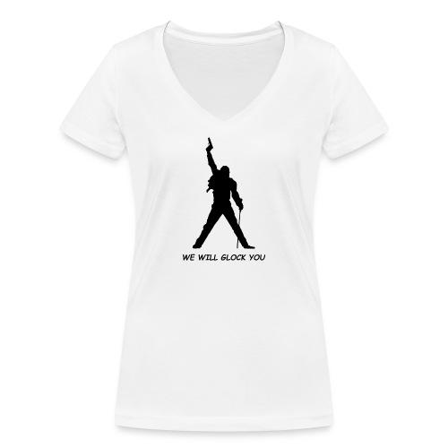 WE WILL GLOCK YOU - Frauen Bio-T-Shirt mit V-Ausschnitt von Stanley & Stella