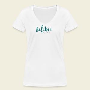 Logo Kolibri Design - Frauen Bio-T-Shirt mit V-Ausschnitt von Stanley & Stella