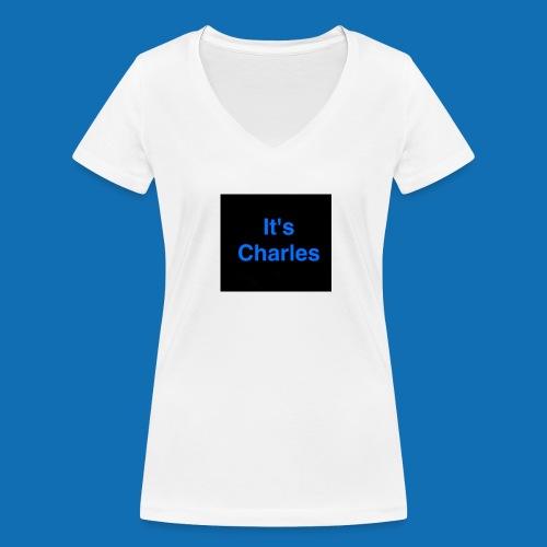 It's Charles - Women's Organic V-Neck T-Shirt by Stanley & Stella