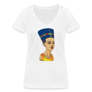 Nofretete - Die Schöne, die da kommt - Frauen Bio-T-Shirt mit V-Ausschnitt von Stanley & Stella