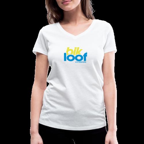bik loof - Frauen Bio-T-Shirt mit V-Ausschnitt von Stanley & Stella