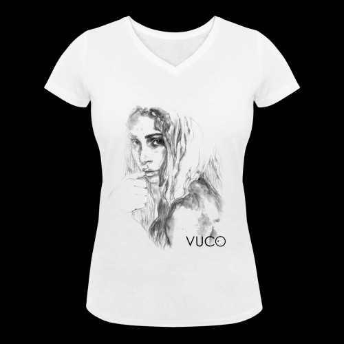 Thoughtful Girl - von VUCO - Frauen Bio-T-Shirt mit V-Ausschnitt von Stanley & Stella