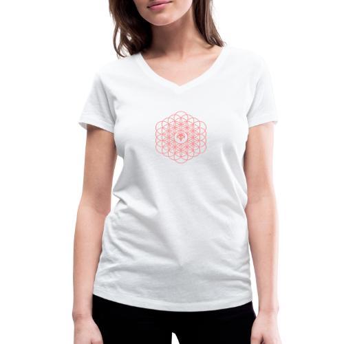 Blume des Lebens Pink - Frauen Bio-T-Shirt mit V-Ausschnitt von Stanley & Stella