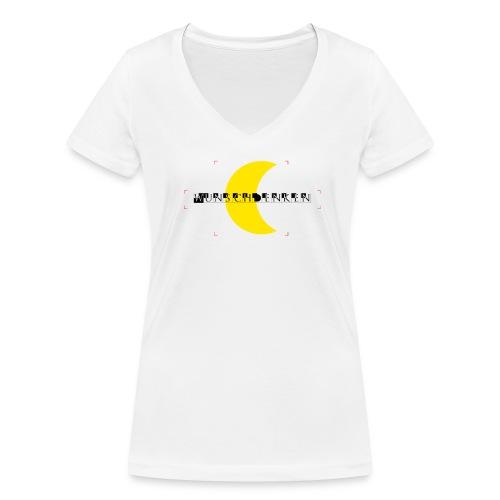 Wunschdenken Halbmond - Frauen Bio-T-Shirt mit V-Ausschnitt von Stanley & Stella