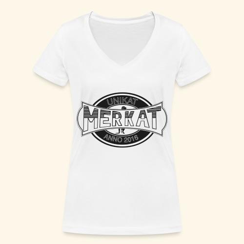 Merkat Unikat - Frauen Bio-T-Shirt mit V-Ausschnitt von Stanley & Stella