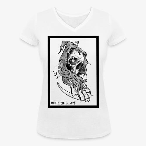 Reaper - Women's Organic V-Neck T-Shirt by Stanley & Stella