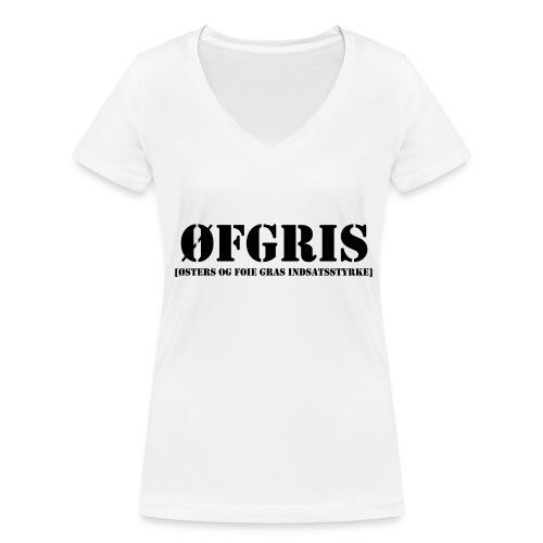ØFGRIS - Premium - Økologisk Stanley & Stella T-shirt med V-udskæring til damer