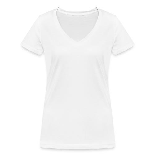 #Cloudifiziert white - Frauen Bio-T-Shirt mit V-Ausschnitt von Stanley & Stella