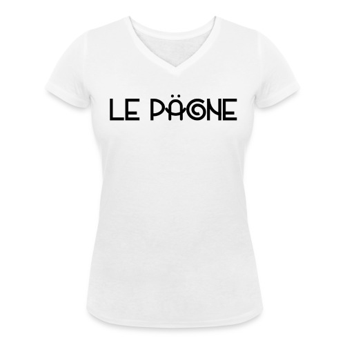Le Pägne Logo Noir - T-shirt bio col V Stanley & Stella Femme
