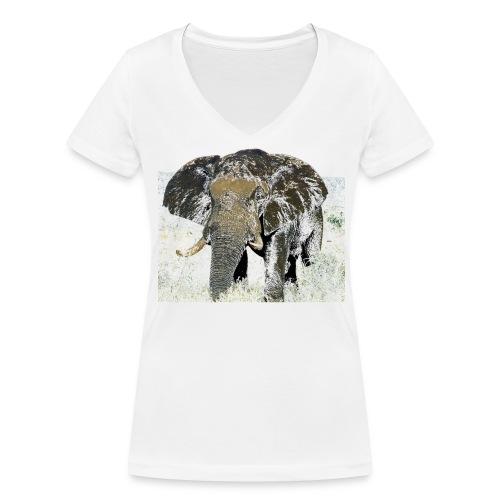 Elephant - Frauen Bio-T-Shirt mit V-Ausschnitt von Stanley & Stella