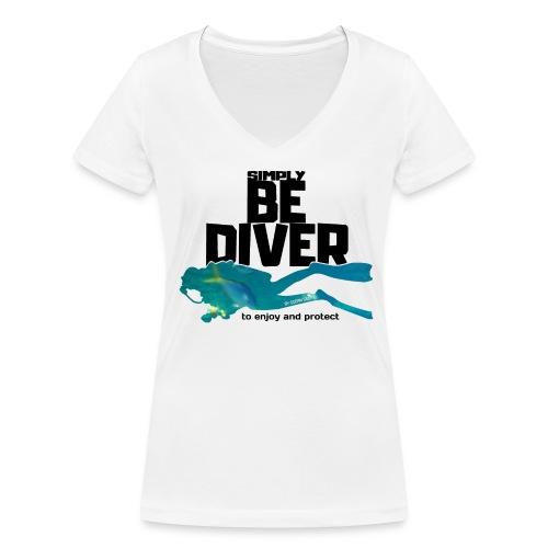 Be Diver - Soutien à Sea Shepherd France - T-shirt bio col V Stanley & Stella Femme