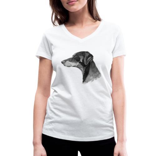 doberman pincher - Økologisk Stanley & Stella T-shirt med V-udskæring til damer
