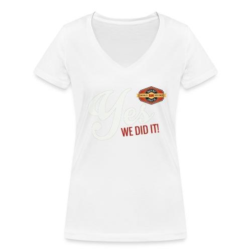 YES-we did it_white - Frauen Bio-T-Shirt mit V-Ausschnitt von Stanley & Stella