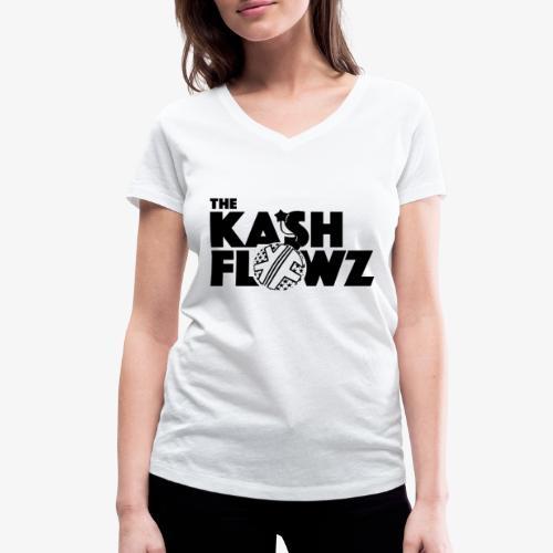 The Kash Flowz Official Bomb Black - T-shirt bio col V Stanley & Stella Femme
