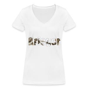 krieger - Frauen Bio-T-Shirt mit V-Ausschnitt von Stanley & Stella