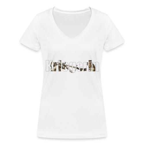 kriegerin - Frauen Bio-T-Shirt mit V-Ausschnitt von Stanley & Stella