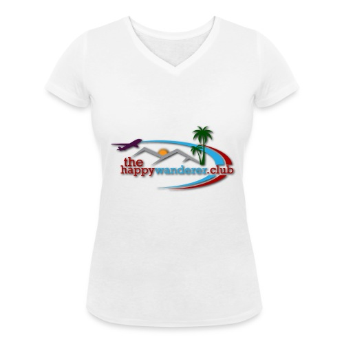 The Happy Wanderer Club Merchandise - Women's Organic V-Neck T-Shirt by Stanley & Stella