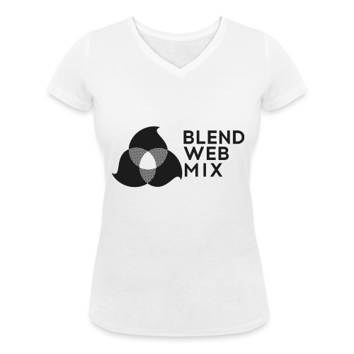 logo noir - T-shirt bio col V Stanley & Stella Femme