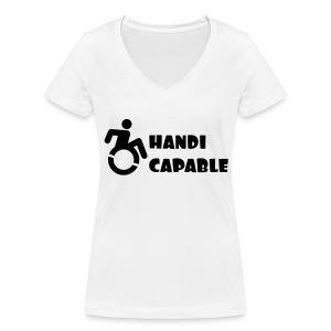 Capable - Vrouwen bio T-shirt met V-hals van Stanley & Stella