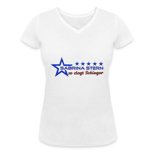 SABRINA STERN LOGO - Frauen Bio-T-Shirt mit V-Ausschnitt von Stanley & Stella