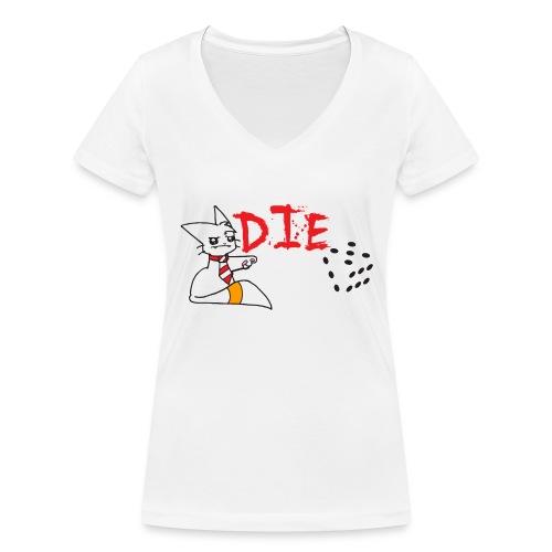 DIE - Women's Organic V-Neck T-Shirt by Stanley & Stella